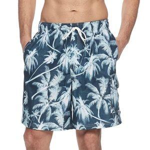 Croft and Barrow Men's Swim Trunks Palm Tree XXL